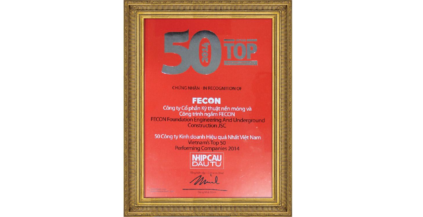 Top 50 công ty kinh doanh hiệu quả nhất Việt Nam 2014