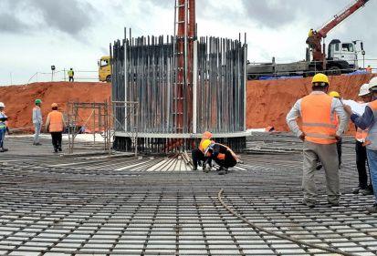 FECON đổ bê tông móng trụ tuabin đầu tiên Nhà máy Điện gió Thái Hòa đúng tiến độ