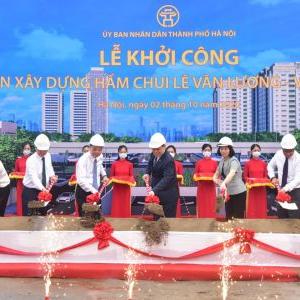 Thi công hầm chui Lê Văn Lương: FECON phát huy năng lực mảng ngầm đô thị
