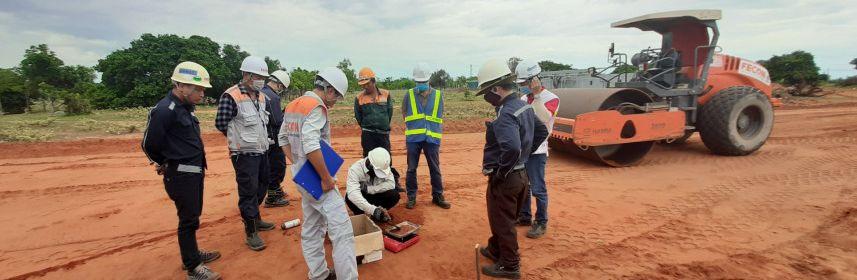 Đẩy nhanh tiến độ thi công, FECON chuẩn bị đổ trụ móng tua bin đầu tiên tại Nhà máy điện gió Thái Hoà