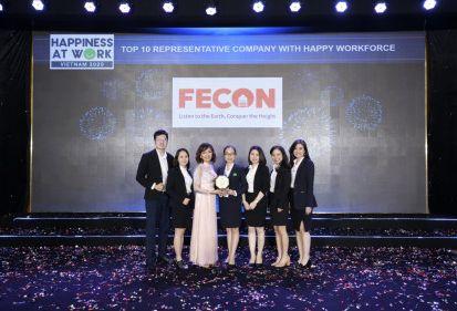 """FECON giành giải """"Top 10 doanh nghiệp tiêu biểu có nguồn lực hạnh phúc nhất"""""""